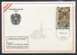 Austria 1984 Lawyers Congress, Ingolstadt Souvenir Card - FDC