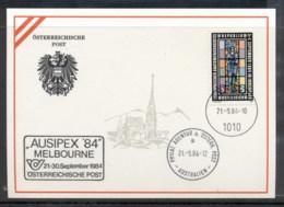 Austria 1984 European Autonomy Congress, Ausipex '84 Souvenir Card - FDC