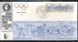 France 1984 Olympic Events , Olymphilex Souvenir Card - 1980-89