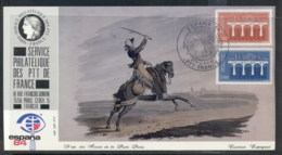 France 1984 Europa Bridges, Post Rider, Espana '84 Souvenir Card - Maximum Cards