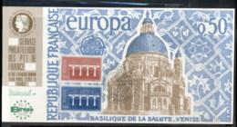 France 1984 Europa Bridges, Basilica De La Salute-Venise, Riccione '84 Souvenir Card - 1980-89