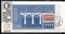 France 1984 Europa Bridges, Stamp Fairs Souvenir Card - Maximum Cards