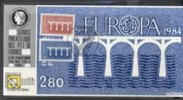 France 1984 Europa Bridges, Hamburg '84 Souvenir Card - 1980-89