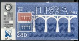 France 1984 Europa Bridges, NABA ZURI '84 Souvenir Card - 1980-89