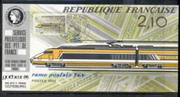 France 1984 High Speed Mail Train , Gothex '85 Souvenir Card - Maximum Cards