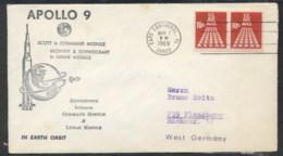 USA 1969 Space, Apollo 9 Souvenir Cover - Schmuck-FDC