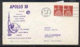 USA 1969 Space, Apollo 10 Souvenir Cover - Schmuck-FDC