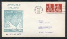 USA 1969 Space, Apollo 9 Souvenir Cover - Event Covers
