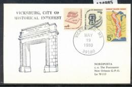 USA 1980 Vicksburg Souvenir Cover - Event Covers