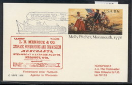 USA 1980 Molly Pitcher PSE, Wiscopex Souvenir Cover - Event Covers