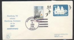 USA 1980 Frigate Constellation PSE, Hamburg Souvenir Cover - Event Covers