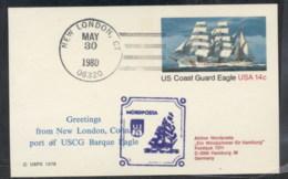 USA 1980 Coast Guard Eagle PSE, Nordposta Souvenir Cover - Event Covers
