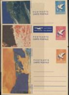 Liechtenstein 1980's Pre Stamped Card, Bird 2x Unused - FDC