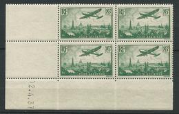 FRANCE 1937 . Poste Aérienne N° 8 En Bloc De Quatre. Coin Daté . Neufs ** (MNH) - Airmail