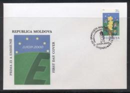 Moldova 2000 Europa Field Of Stars FDC - Moldova