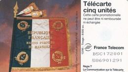 TELECARTE CINQ      BATAILLON DE MARINS-POMPIERS DE MARSEILLE - 5 Unités