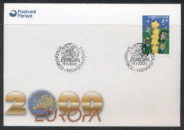 Faroe Is 2000 Europa Field Of Stars FDC - Faroe Islands