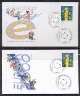 Germany 2000 Europa Field Of Stars + P&S 2x FDC - [6] Democratic Republic