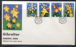 Gibraltar 2000 Europa Field Of Stars FDC - Gibraltar