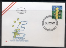 Austria 2000 Europa Field Of Stars FDC - FDC