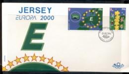 Jersey 2000 Europa Field Of Stars FDC - Jersey