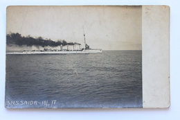 S.M.S. SAIDA, Real Photo Postcard - Warships