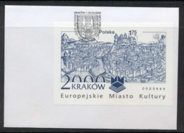 Poland 2000 Cracow European City Of Culture MS IMPERF FDC - FDC