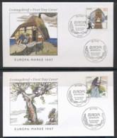 Germany 1997 Europa Myths & Legends 2x FDC - [6] Democratic Republic