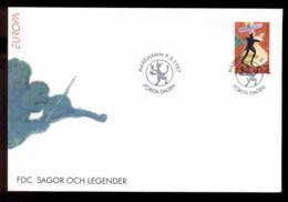 Aland 1997 Europa Myths & Legends FDC - Aland