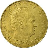 Monnaie, Monaco, Rainier III, 20 Centimes, 1977, TTB, Aluminum-Bronze - Monaco