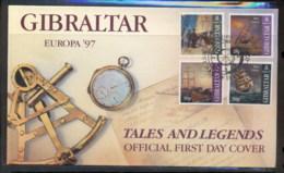 Gibraltar 1997 Europa Myths & Legends FDC - Gibraltar