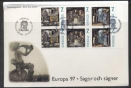Sweden 1997 Europa Myths & Legends Booklet Pane FDC - FDC