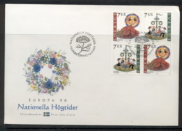 Sweden 1998 Europa Holidays & Festivals FDC - FDC