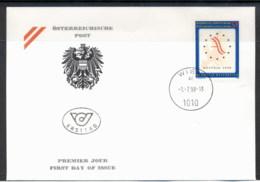 Austria 1998 Presidency Of The European Union FDC - FDC