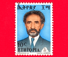 ETIOPIA - Usato - 1973 - Imperatore Haile Selassie - 10 - Etiopia