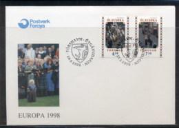 Faroe Is 1998 Europa Holidays & Festivals FDC - Faroe Islands