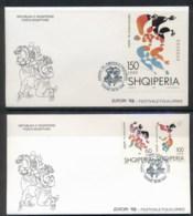 Albania 1998 Europa Holidays & Festivals + MS 2x FDC - Albania