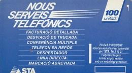 ANDORRE....TELETARJA 100 UNITATS - Andorre