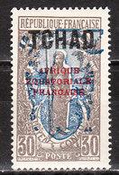38*  Type Du Congo Surchargé - Bonne Valeur - MH* - LOOK!!!! - Tchad (1922-1936)