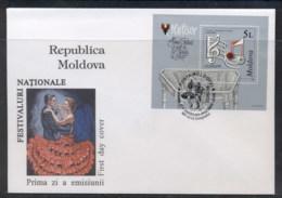 Moldova 1998 Europa Holidays & Festivals MS FDC - Moldova