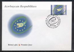 Azerbaijan 1999 Council Of Europe FDC - Azerbaïjan