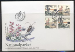 Sweden 1999 Europa Nature Parks FDC - FDC