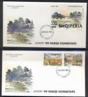 Albania 1999 Europa Nature Parks + MS 2x FDC - Albania