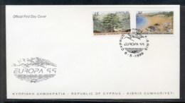 Cyprus 1999 Europa Nature Parks FDC - Brieven En Documenten