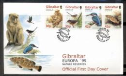 Gibraltar 1999 Europa Nature Parks FDC - Gibraltar