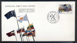 Cyprus 1999 Council Of Europe FDC - Brieven En Documenten