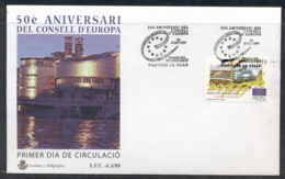 Andorra (Sp) 1999 Council Of Europe FDC - Covers & Documents