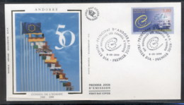 Andorra (Fr) 1999 Council Of Europe FDC - Covers & Documents