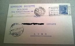SERVIDORI GIUSEPPE BOLOGNA  - VIAG. 1922  (76) - Pubblicitari