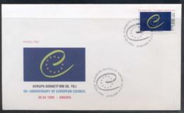 Turkey 1999 Council Of Europe FDC - 1921-... Republic